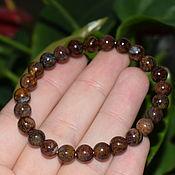 Украшения handmade. Livemaster - original item Bracelet made of natural petersite ( pietersite ). Handmade.