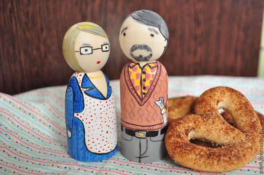 Вальдорфская игрушка ручной работы. Ярмарка Мастеров - ручная работа. Купить Бабуля и дедуля, куколки. Handmade. Разноцветный, подарок