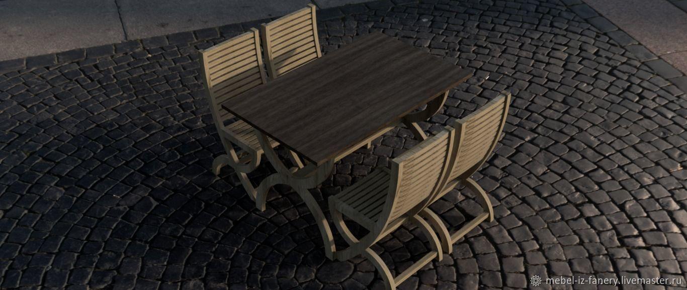 Стол обеденный, стол кухонный из фанеры, Столы, Харьков,  Фото №1