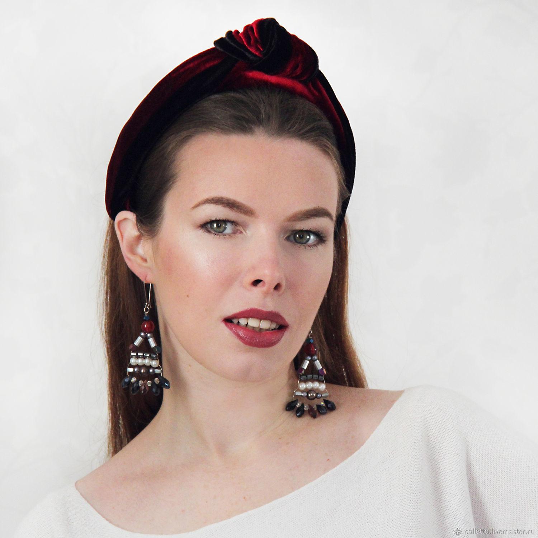 Bezel-knot velvet, Headband, Ekaterinburg,  Фото №1