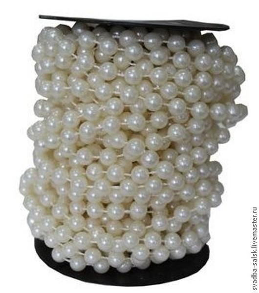 Для украшений ручной работы. Ярмарка Мастеров - ручная работа. Купить Бусины на нитке (8 мм) (айвори). Handmade. Бежевый