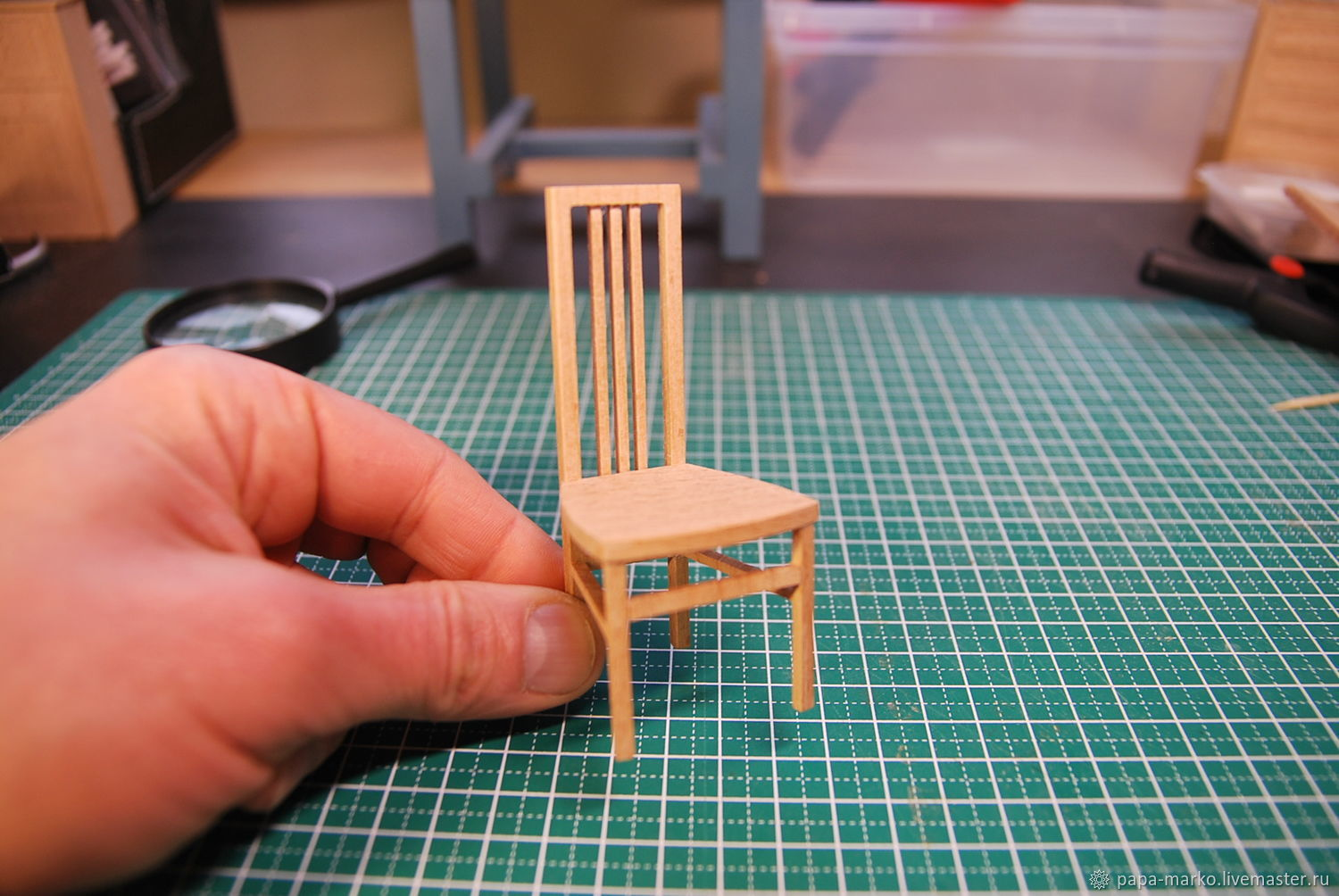 Chair for 1/12 Dollhouse, Doll houses, Moscow,  Фото №1