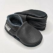 Одежда детская handmade. Livemaster - original item Dark Gray Baby Shoes, Basic Baby Shoes, Gray Baby Booties. Handmade.