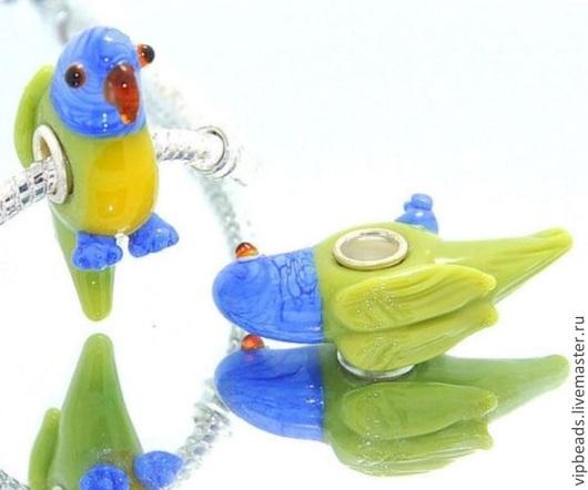 """Для украшений ручной работы. Ярмарка Мастеров - ручная работа. Купить Бусина """"Попугай Кеша"""" в стиле Пандора. Handmade."""