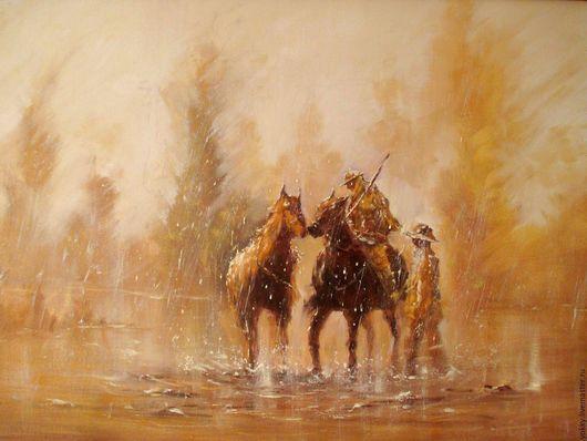 Животные ручной работы. Ярмарка Мастеров - ручная работа. Купить Поцелуй под Дождём. Handmade. Оранжевый, дождь, коричневый
