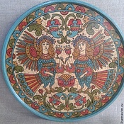 Русский стиль handmade. Livemaster - original item Plate