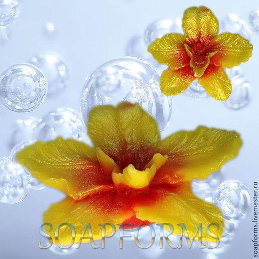 """Силиконовая форма для мыла """"Орхидея 2"""""""
