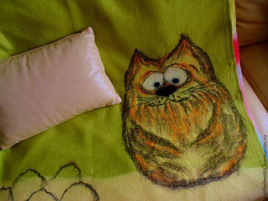 Пледы и одеяла ручной работы. Ярмарка Мастеров - ручная работа. Купить Детское одеяло. Handmade. Салатовый, подарок мальчику