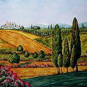 """Картины и панно ручной работы. Ярмарка Мастеров - ручная работа Картина """"Тоскана"""" акварель. Handmade."""