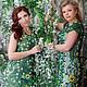 Платья ручной работы. Ярмарка Мастеров - ручная работа. Купить Вязаное платье Весна. Handmade. Зеленый, цвет, платье крючком