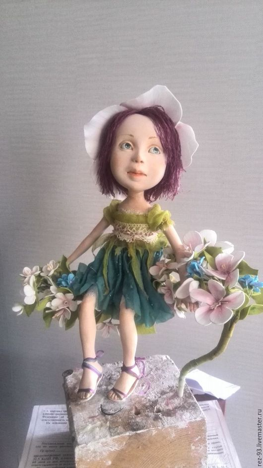 Коллекционные куклы ручной работы. Ярмарка Мастеров - ручная работа. Купить Яблонька. Handmade. Комбинированный, феечка, яблоневый цвет, ладолл