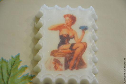 Мыло ручной работы. Ярмарка Мастеров - ручная работа. Купить Мыло-открытка Девушки. Handmade. Для мужчин, мыло с картинкой