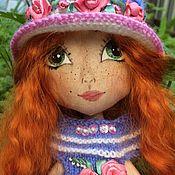 Кукла текстильная рыжая Ириска