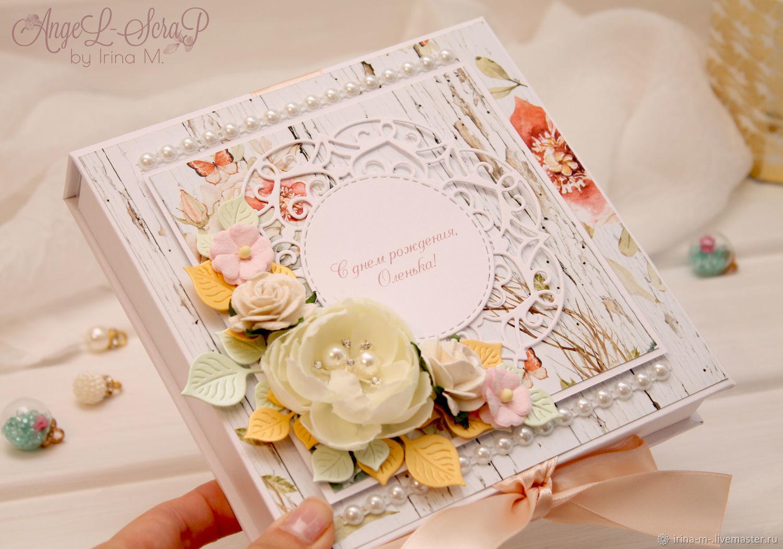 Подарочный сертификат в коробочке с откидной крышкой, Подарки, Москва,  Фото №1