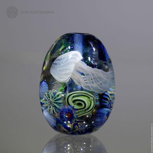 Для украшений ручной работы. Ярмарка Мастеров - ручная работа. Купить Карманный аквариум Синий. Handmade. Комбинированный, художественное стекло