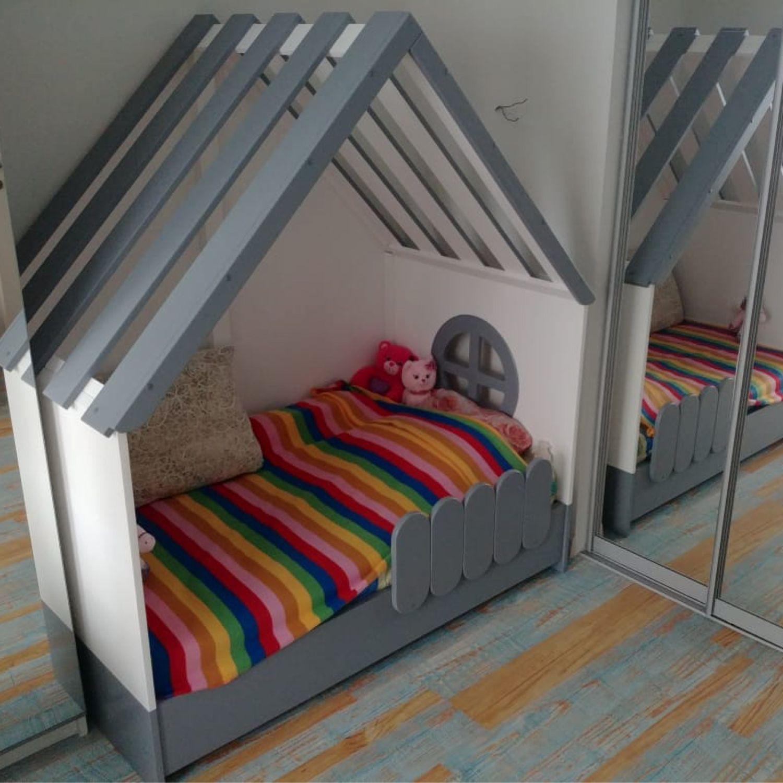 Детская ручной работы. Ярмарка Мастеров - ручная работа. Купить Детская кровать < Мой дом>. Handmade. На заказ