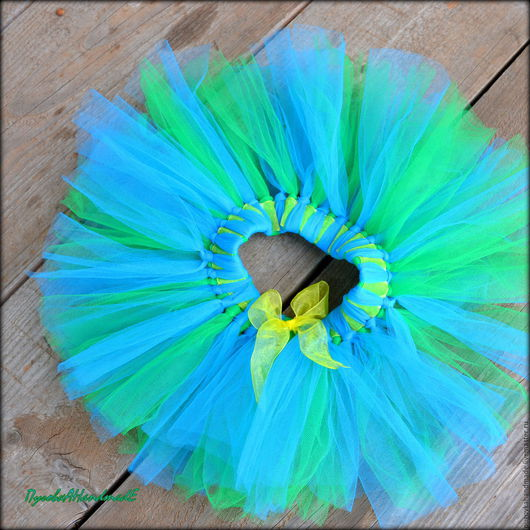 """Одежда для девочек, ручной работы. Ярмарка Мастеров - ручная работа. Купить """"Водяная нимфа"""" - пышная юбочка ТуТу. Handmade. Разноцветный"""