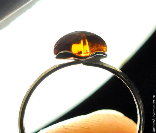 """Кольца ручной работы. Ярмарка Мастеров - ручная работа. Купить Янтарь. Кольцо """"Ромбик"""".. Handmade. Янтарь, балтийский янтарь"""