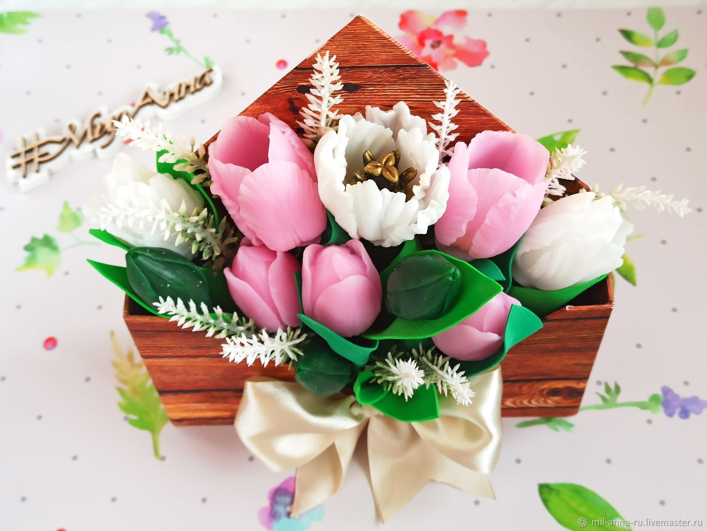 soap: Bouquet of tulips in an envelope, Soap, Rossosh,  Фото №1