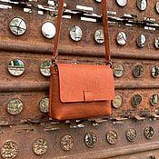 Сумка через плечо ручной работы. Ярмарка Мастеров - ручная работа Кожаная сумка Кросс Боди. Handmade.