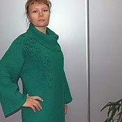 "Одежда handmade. Livemaster - original item Knitted coat ""Emerald"". Handmade."