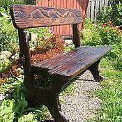Для дома и интерьера handmade. Livemaster - original item Garden bench in solid cedar Teletskoye. Handmade.