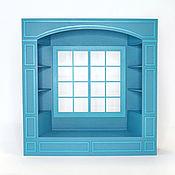 handmade. Livemaster - original item Shelving window No. №3 for dolls 1:6 (Barbie), 1:4: 1:3 MSD,  SD. Handmade.