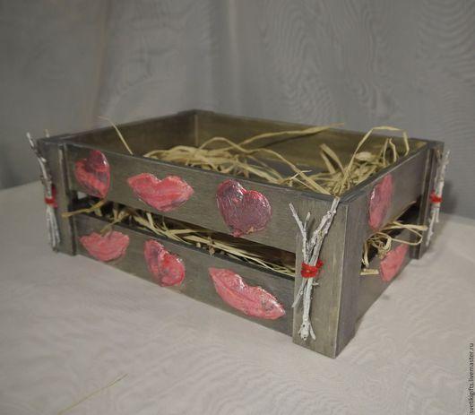 Персональные подарки ручной работы. Ярмарка Мастеров - ручная работа. Купить Подарочная корзина Поцелуйчик. Handmade. Подарок мужчине, декупаж