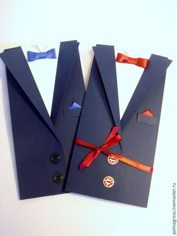 Открытка смокинг с галстуком