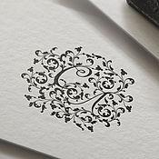 Визитки ручной работы. Ярмарка Мастеров - ручная работа Логотип, вензель для мастера с инициалами СЛ или ЛС. Handmade.
