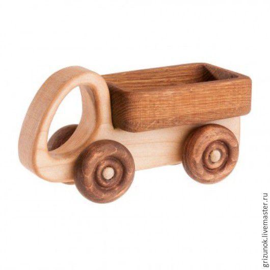 Техника ручной работы. Ярмарка Мастеров - ручная работа. Купить Деревянная машинка Грузовичок. Handmade. Коричневый, бук, грузовик деревянный