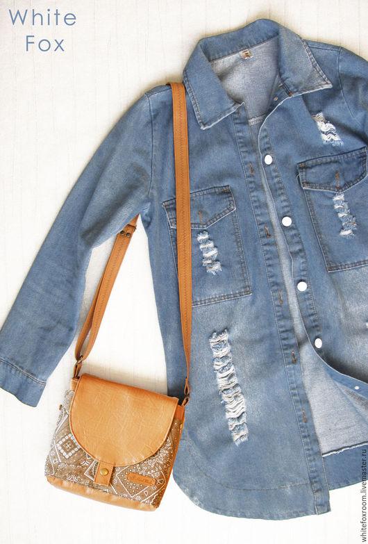Женские сумки ручной работы. Ярмарка Мастеров - ручная работа. Купить Сумка из кожзама и льна. Handmade. Сумка, стильная сумка