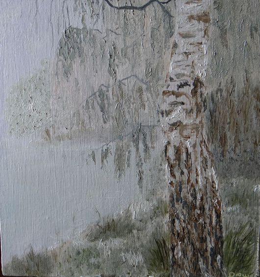 Пейзаж ручной работы. Ярмарка Мастеров - ручная работа. Купить Утро туманное. Handmade. Белый, лето, картина для интерьера