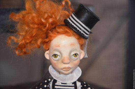 Коллекционные куклы ручной работы. Ярмарка Мастеров - ручная работа. Купить Агнешка. Handmade. Черный, подарок девушке, масло