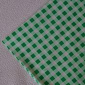 Материалы для творчества ручной работы. Ярмарка Мастеров - ручная работа Ткань хлопок клетка. Handmade.