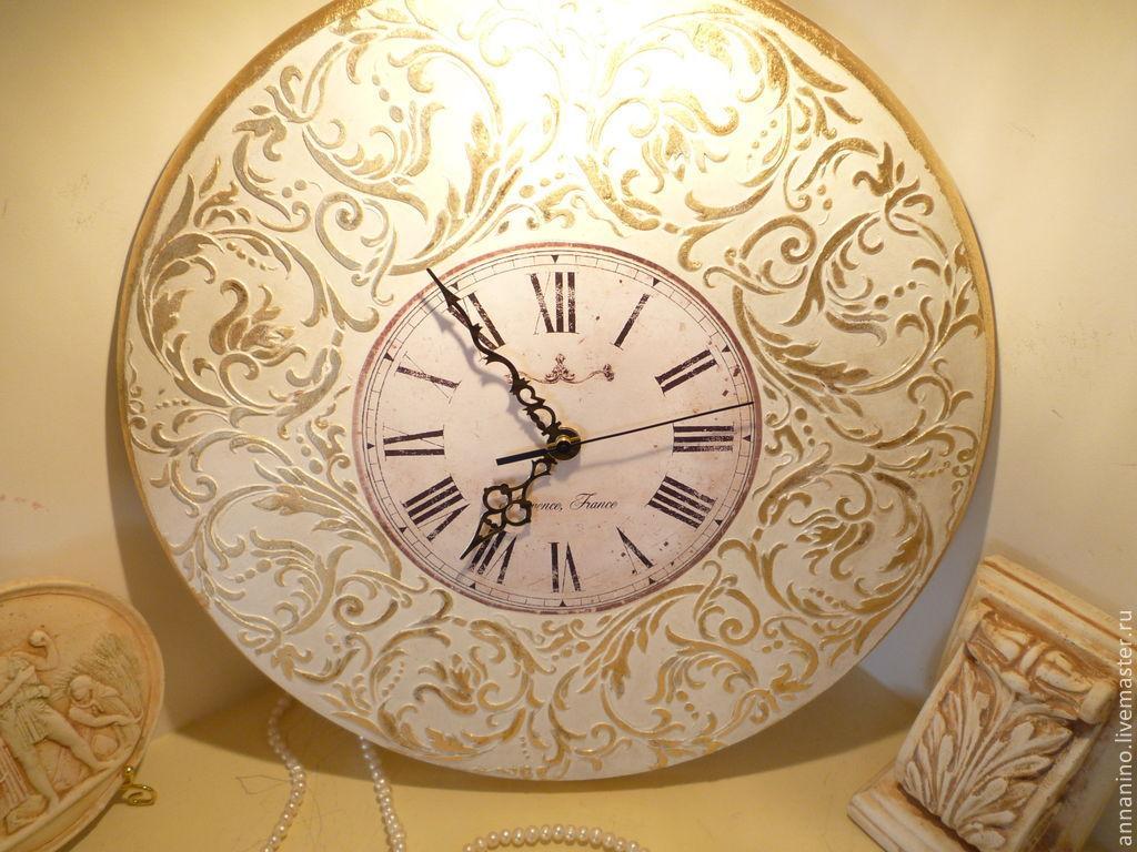 9ee0732e12ab ... Часы для дома ручной работы. Заказать Настенные часы Вальс в белом  Рококо. Творческая мастерская ...