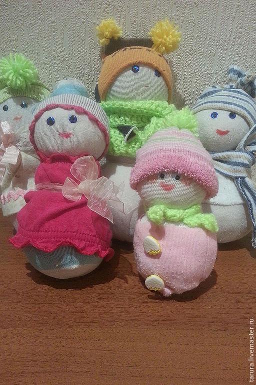 снеговик, семья снеговиков, для украшения елки