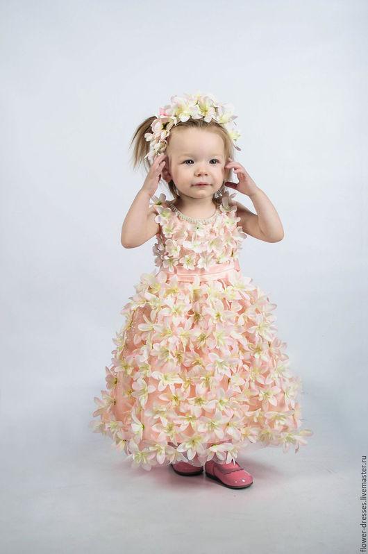 Одежда для девочек, ручной работы. Ярмарка Мастеров - ручная работа. Купить детское платье. Handmade. Кремовый, ручная работа