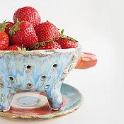 Посуда ручной работы. Ярмарка Мастеров - ручная работа Berry Bowl «Ягодный помощник». Handmade.