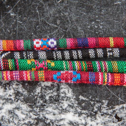 Для украшений ручной работы. Ярмарка Мастеров - ручная работа. Купить Шнур текстильный для колье и браслетов диаметром 6 мм. Handmade.
