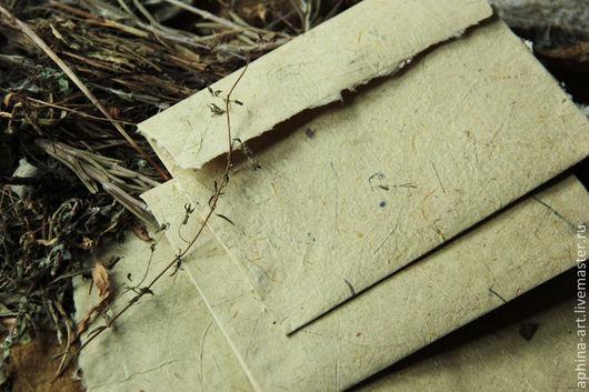 """Письменные приборы ручной работы. Ярмарка Мастеров - ручная работа. Купить """"Лесное эхо"""" - конверты и бумага ручной работы. Handmade."""