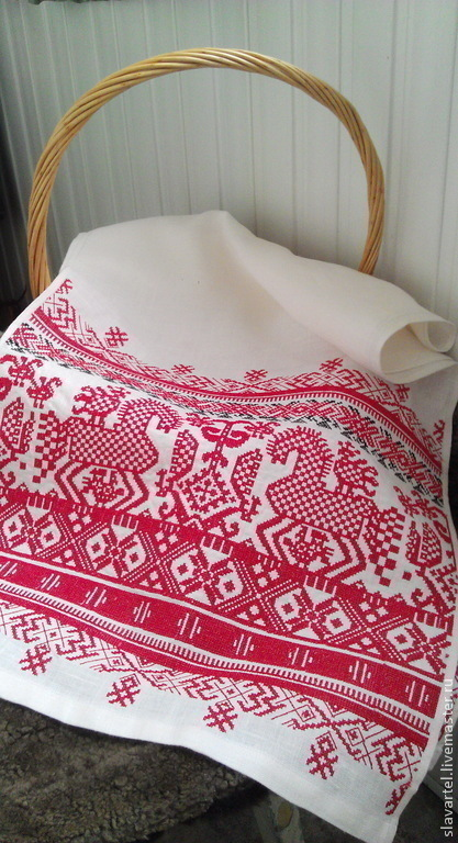 Wedding towel Kargopol, Olonets region. Reconstruction