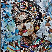 Картины и панно handmade. Livemaster - original item A vivid picture in the technique of collage Frida Kahlo. Handmade.