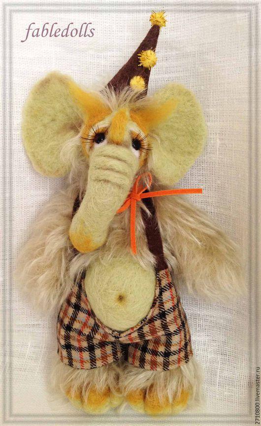 Мишки Тедди ручной работы. Ярмарка Мастеров - ручная работа. Купить Слоник Тобби. Handmade. Оливковый, слоники, винтаж