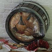 Для дома и интерьера ручной работы. Ярмарка Мастеров - ручная работа Vino Toscano, срез бочки. Handmade.