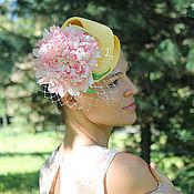 """Аксессуары ручной работы. Ярмарка Мастеров - ручная работа Коктейльная шляпка """"Oh la la"""". Handmade."""