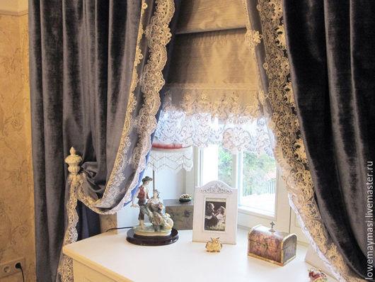 Текстиль, ковры ручной работы. Ярмарка Мастеров - ручная работа. Купить Винтажные шторы из бархата в Викторианском стиле.. Handmade. Бархат