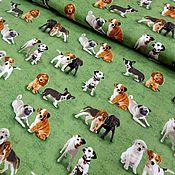 Материалы для творчества ручной работы. Ярмарка Мастеров - ручная работа Американский хлопок. Собачки на траве.. Handmade.