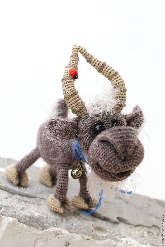 Игрушки животные, ручной работы. Ярмарка Мастеров - ручная работа. Купить Билли - козёл. Handmade. Темно-серый, козлик