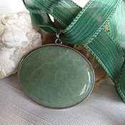 Украшения handmade. Livemaster - original item Pendant. Natural jade